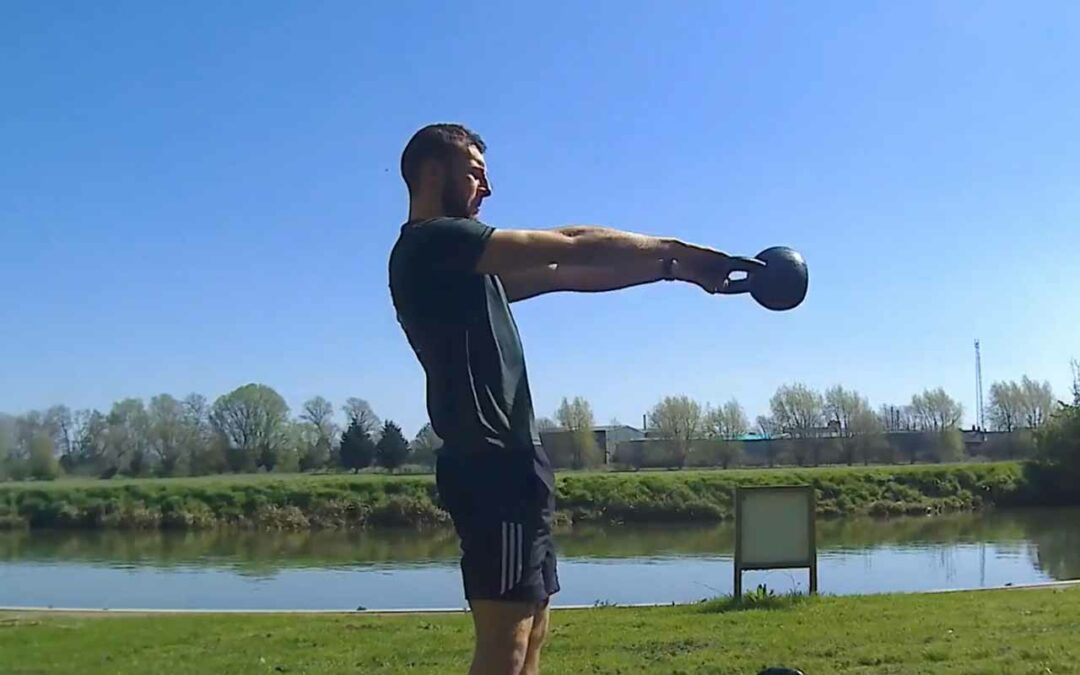How to perform a kettlebell swing